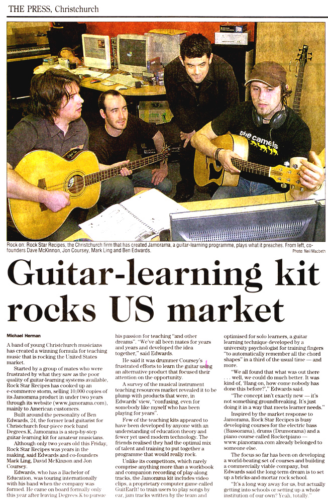 Guitar-learning kit rocks US market